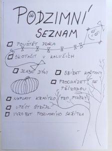 naše listy - společné plnění zábavných úkolů - podzimní list 224x300